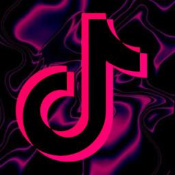 tiktok freetoedit pink black tiktokicon iphoneicon logo icon trippy aesthetic