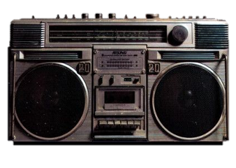 radio vintage aesthetic png pngsticker sticker 90s 80s 80 90 freetoedit