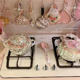 kitchen glitter sparkle bling shine aesthetic