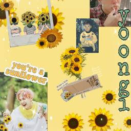 freetoedit minyoongi yoongimin yoongi🌻 suga btssuga btsyellow yellow sunflower sunflower🌻 yoongi