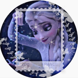 elsa snow ice blue white aesthetic butterflies frame butterfly silver stars pfp glitter profilepic profilephoto disneyprincess disney princess