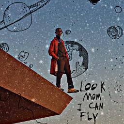 lookmomicanfly travisscottedit freetoedit