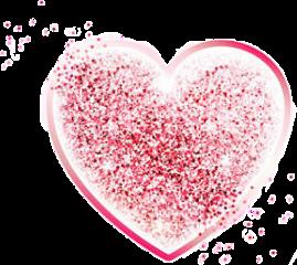 glitter heart pink rose pinkheart freetoedit