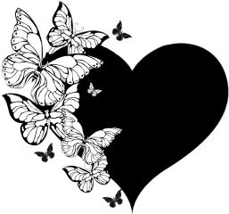 black blackheart🖤 butterflywithheart freetoedit blackheart