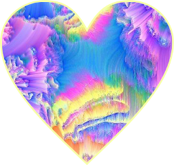 heart interesting colorful colorsplasheffect heartshaped beauty brightcolors shapes clipsart clipart freetoedit