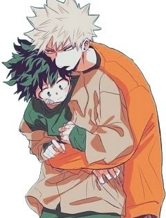 myheroacademia bakuxdeku midoriya izuku deku bakugo katsuki kacchan yaoi cute kawaii anime fanart hugs boy kun boyxboy kunxkun kuns boys sticker freetoedit