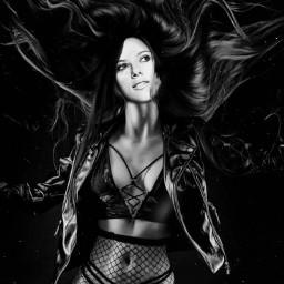 freetoedit scarlettjohansson rockstar gotic blackandwhite
