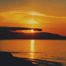 gold sunset sun sea reflection coast landscape freetoedit pcgoldenhour goldenhour
