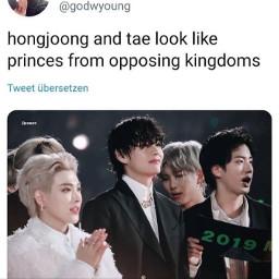 bts ateez ateezmemes btsmemes hongjoong taehyung kpop kpopmemes lol funnyaf freetoedit