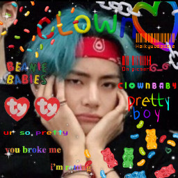 freetoedit taehyung kimtaehyung btskimtaehyung taetae bts btsarmy bangtanboys bulletproofboyscouts bulletproofboys btsedit kpop kpopidol kpopedit fanedit btsfanedit btsfan kpopmessyicon messykpop messyicon messy clowncore kidcore candy jellybeans