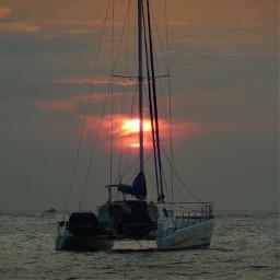 sunset sailing pcgoldenhour goldenhour freetoedit