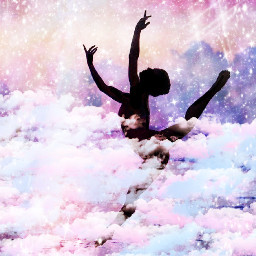 gymnastics gymnast gym love passion clouds pastel color stars moon sky calm peaceful determined happy