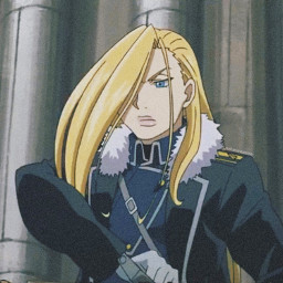 olivierarmstrong armstrong fmabrotherhood fullmetalalchemist fma fmab animegirl fullmetalalchemistbrotherhood yellow blue animeaesthetic yellowaesthetic profilepic profilepicture anime animeicon icon aesthetic pfp freetoedit