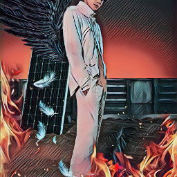 nct nct127 jungwoo fire demon freetoedit