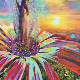 freetoedit fantasy flower sunset floramagiceffect