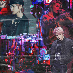 vvs_500 maknaeroni_elim1 yeosminioncontest artistcontest taeyong leetaeyong nct127 nctu nct2018 nct2020 superm kpop aesthetic cyber punk freetoedit
