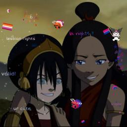 katara toph lesbian bisexual sapphics headcanon freetoedit