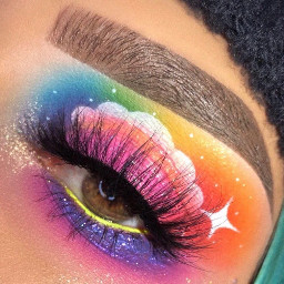 rainbowcloud makup art makeupart rainbowmakeupart