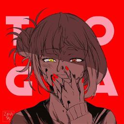 myheroacademia bokunoheroacademia toga togahimikio deku uraraka yandere horror horrifying anime manga animegirl animeyandere pyscho terror