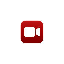 darkred facetime logo icon