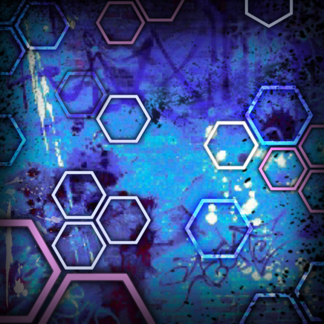 #graffitistyle #scifi #hexagons #art #bluerobotic #city