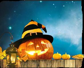 background pumpkins leaves fall halloween jackolantern hat witchshat stars lantern clouds nightsky remixit freetoedit