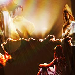 peace angel death heaven hell portals myart myedits freetoedit