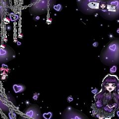 elissabat monsterhigh violet purple purplehearts freetoedit