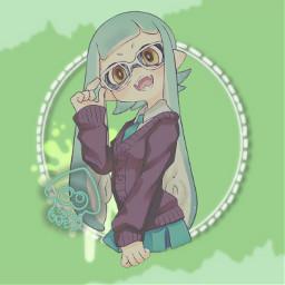 splatoon splatoon2 inkling inklinggirl green freetoedit