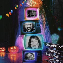 replay madewithpicsart halloween spookyseason glitch tv halloweencreatures myedit creativity freetoedit