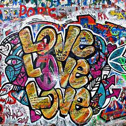 freetoedit love text art brickwall graffiti