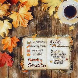 freetoedit autumn feeling season leaves ircacupoftea