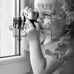 fotocamera bambina fotoartistica grigio freetoedit srcpuzzlepieces puzzlepieces
