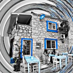 splash colorsplash freetoedit stepbystep edit alaçatı blue blackwhite artistic