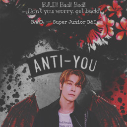 vampire donghae superjunior halloween bad badsong superjuniord&e badblood badbloodalbum blood tryitout kpop replayed heypicsart makeawesome wings costume sprinkle scary quote quotes background red black aesthetic freetoedit
