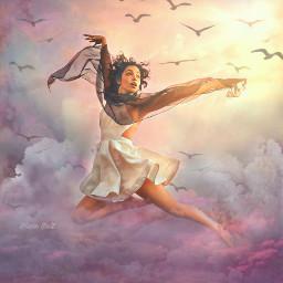 freetoedit fantasy sky dancer clouds