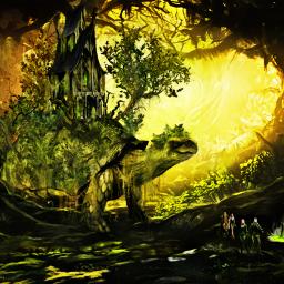 elven tortoise swamp fantasy fantasyart imagination freetoedit