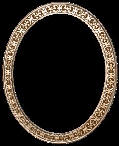 ovalado circulo frame dorado oro freetoedit