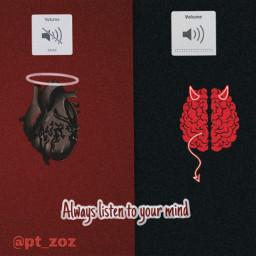 freetoedit heart mind angel devil