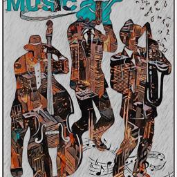 music doubleexposure notes musicnotes chicago jazz instruments saxophone bass trumet playingmusic freetoedit