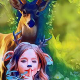 fantasy deer myimagination freetoedit