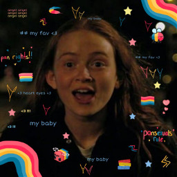 maxmayfield madmax strangerthings netflix sadiesink pansexual pan panrights panflag pansexualrights pansexualflag panpride pansexualpride wlw nblw all sapphic soft aesthetic cottagecore cute clouds loveislove lgbt lgbtq freetoedit