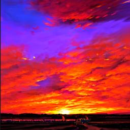 freetoedit remixit madewithpicsart train clouds sunset horizon sky river travelling peace quiet railway railroad voyage sunrise colourful