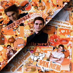kjapa sunbum youcantstopmelovingmyself spookyscaryskeletons stayspooky halloween orangeaesthetic orange aesthetic kjapaedit love loveyall thankyou morelove freetoedit