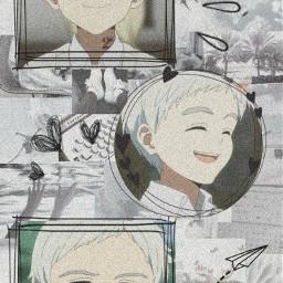 norman neverland anime otaku wallpaper aesthetic gray freetoedit