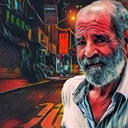 portrait man face street alley photomanipulation freetoedit fxeffect