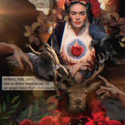 fridakahlo babelart artstyle unibrow_queen fridainspiration collageart art freetoedit