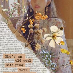 freetoedit gidle g-idle women woman female flower flowers human kpop kidol idol paper newspaper paperrip papercut quote paperquote g srcvintageaesthetic vintageaesthetic