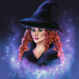 witch halloween madebyme mydraw draw mydrawing drawing magical glitters purple redhair magic fchappyhalloween2020 happyhalloween2020