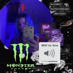 bnha monster goth emo alternative scene blue blur blurry volume egirl ohwow freetoedit